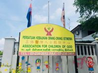 A community care charity project at Persatuan Kebajikan Orang-Orang Istimewa Kempas by V Power Generation,  Fanpekka Aeon Tebrau & Uncle Fishy Entertainment