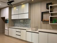 5G Glass Door Dry Kitchen Cabinet #Putra Nilai