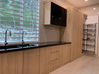 5G Door & Solid Plywood Laminated Wet Kitchen Cabinet #Putra Nilai