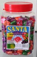 S1 500pcs x 8 jars Santa Fruit Chew