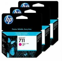 HP 711 ORIGINAL MAGENTA 3 PACK INK CARTRIDGE (CZ135A) COMPATIBLE TO HP PRINTER DESIGNJET T520