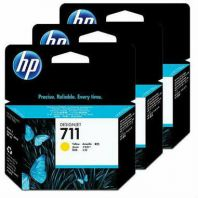 HP 711 ORIGINAL YELLOW 3 PACK INK CARTRIDGE (CZ136A) COMPATIBLE TO HP PRINTER DESIGNJET T520