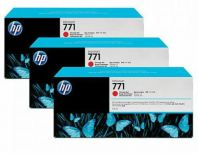 HP 771B ORIGINAL CHROMATIC RED 3 PACK INK CARTRIDGE (B6Y24A) HP 771B OCOMPATIBLE TO HP PRINTER Z6200