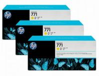 HP 771B ORIGINAL YELLOW 3 PACK INK CARTRIDGE (B6Y26A) COMPATIBLE TO HP PRINTER Z6200