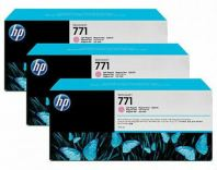 HP 771B ORIGNAL LIGHT MAGENTA 3 PACK INK CARTRIDGE (B6Y27A) COMPATIBLE TO HP PRINTER Z6200