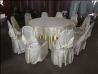 table and chairs with cover