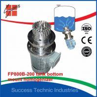 BT200B-200 400 liter tank bottom mount homogenizer
