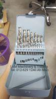 19pcs Straight Shank HSS Drill Bit Set
