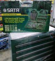 "Sata 150pcs 1/4"", 3/8"" & 1/2"" Socket Set(S.A.E & Metric)"