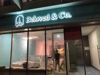 'Beloved & Cafe' Led Backlit Box Up