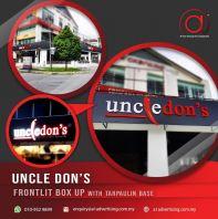 'Uncle Don's' Front Lit Box Up
