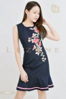 21991 EMBROIDERED FLORAL RUFFLE DRESS