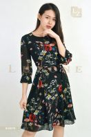 634679 FLORAL SLEEVE DRESS