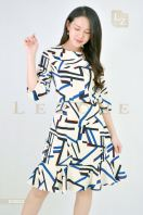 635622 PRINTED PATTERN A-LINE DRESS