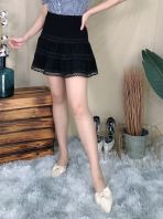66325 Lace Flared Skirt