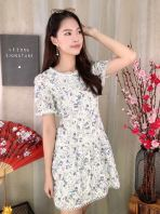 80736 Floral Laced Dress