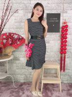 23680 Stripe Sleeveless Dress