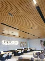 Aluminium Strip Ceiling - Woodgrain