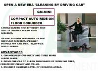 GM-MINI COMPACT RIDE ON AUTO RIDE-ON FLOOR SCRUBBER
