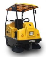 WELDUM W1350 - SMALL ELECTRIC RIDE-ON SWEEPER
