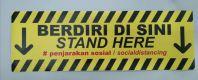Sticker Berdiri Di Sini  Social Distancing