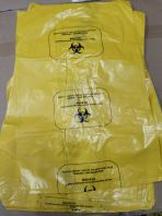 Yellow Medical Waste Step Bin Bio hazard Plastic Bag 30L