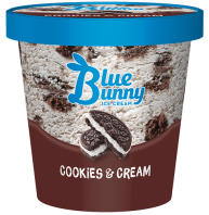 Blue Bunny Pint Cookie and Cream