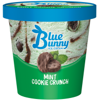 Blue Bunny Pint Mint Cookie Crunch