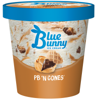 Blue Bunny Pint PB 'n Cones
