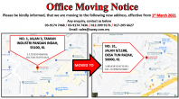 OFFICE MOVING NOTICE