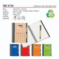 NB 5154 Notebook with Calculator & Pen