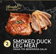 READY COOKED SMOKED DUCK LEG MEAT