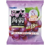 ORIHIRO KONNYAKU JELLY GRAPE POUCH 120G X 24