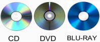 Optical Media - Blu-Ray, CD and DVD
