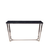 Marble Console Table - Black Marquina Marble