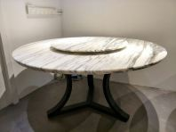 Modern Marble Dining Table - Arabescato Salita Marble