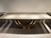 Grey Marble Dining Table - Pietra Grey Marble