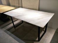 Modern Marble Dining Table - Volakas White Marble