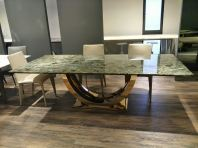 Modern Granite Dining Table - Blue Jade Granite