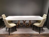 10 Seater White Marble Dining Table - Sivec White Marble