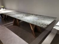Premium Granite Dining Table with modern stand design