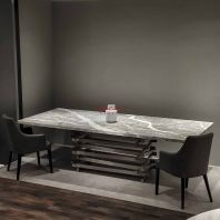 Grey Majestic Dining Table | Grigio Piemonte | 10 Seaters