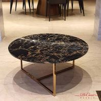 Portoro Gold | Round Marble Coffee Table (non-coat) | Cash & Carry