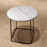 Sivec White | Marble Side Table | Cash & Carry