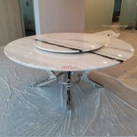 Modern White Marble Table | Panda White | 10 Seaters