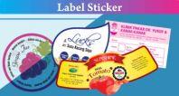 Printed Round Sticker