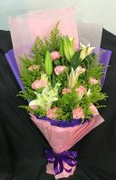 Carnation/Lily Bouquet (HB-881)