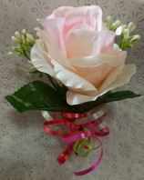 Artificial Light Peach Roses CORSAGE (CC-030)