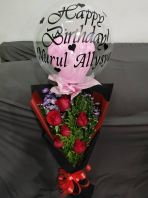 Rose Bouquet with Baloon HB1063 floristkl