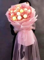 1076 Babybreath with LED ball bouquet HB1076 floristkl